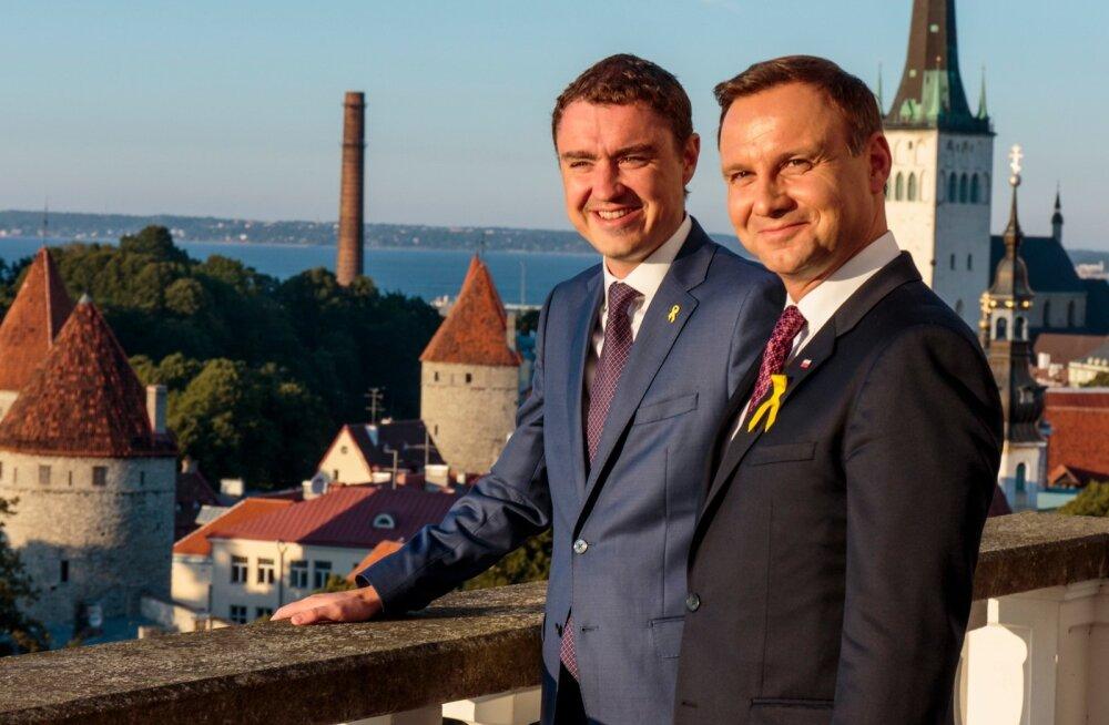 Poola president Andrzej Duda kohtus peaminister Taavi Rõivasega