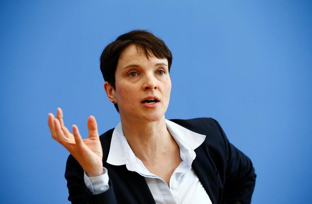 Saksa parempopulistide juht teatas, et ei hakka valimistel erakonna esinumbriks