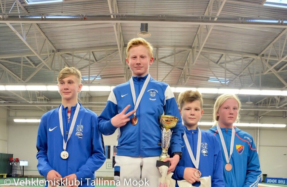 Eesti noorvehklejad võitsid Põhjamaade meistrivõistlustelt viis kuldmedalit