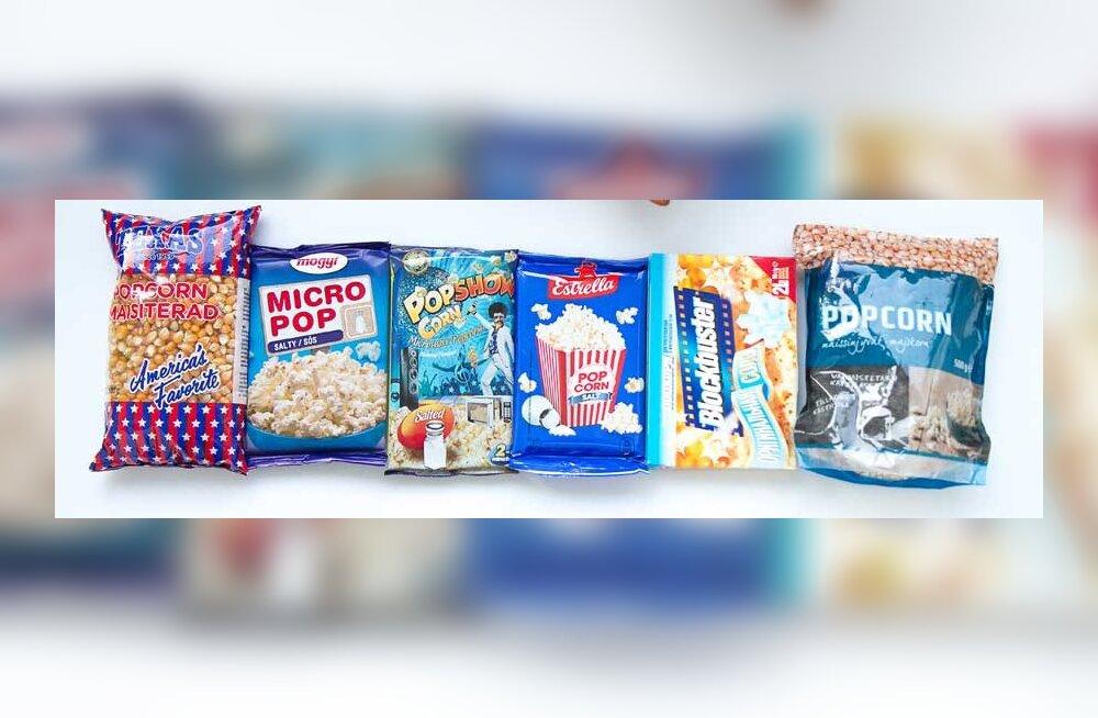 ЭКСПЕРТИЗА: Какой попкорн из продающихся в эстонских магазинах самый лучший