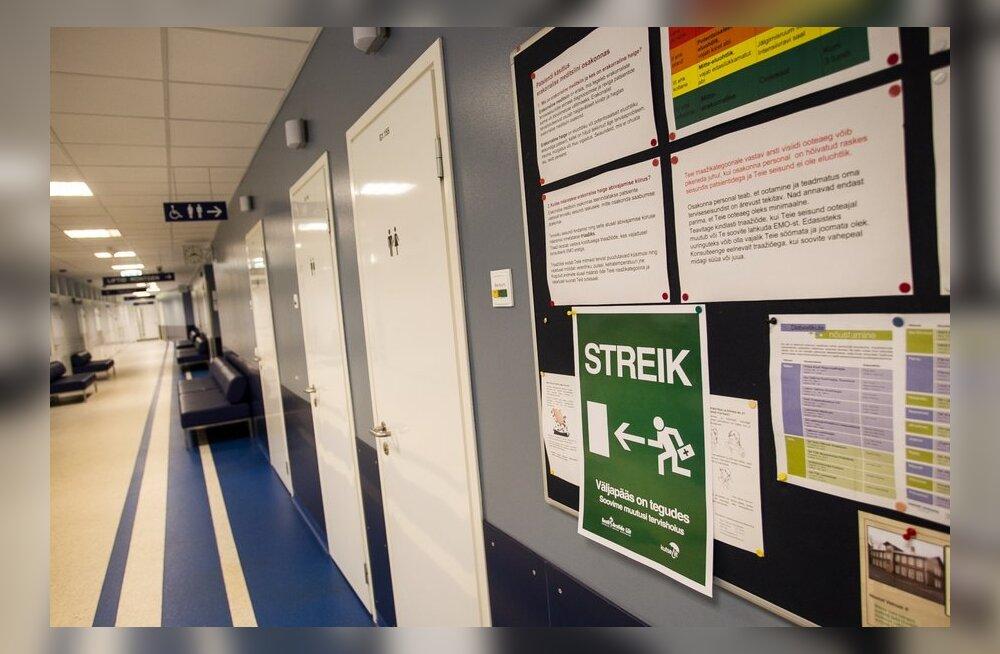 Suuremates haiglates on streigi tõttu ära jäänud vähemalt 30 000 visiiti ja 500 operatsiooni