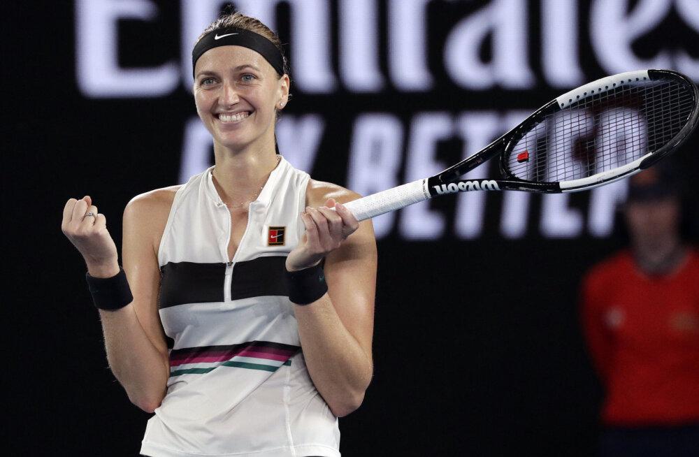 Australian Openi finaali pääsenud Kvitova meenutas noarünnakut: mul oli raskusi üksi olemisega
