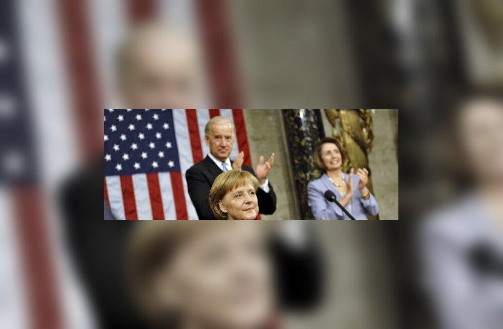 Merkeli Iraani vastast kõnet saatis USAs suur edu