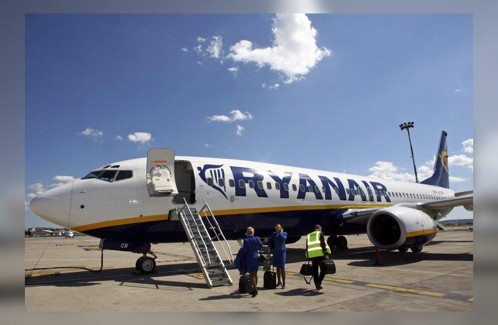 Ryanair зимой будет летать из Таллинна только в Лондон, Осло и Милан