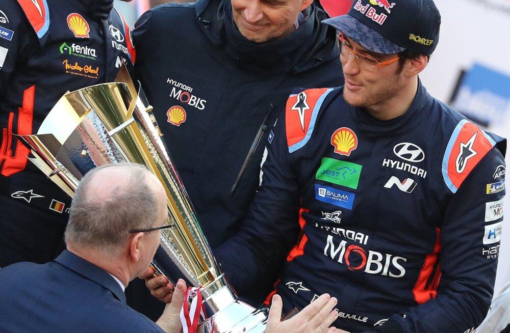 Võidukas Thierry Neuville Monte Carlos.