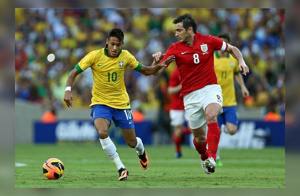 Brasiilia - Inglismaa jalgpall, Neymar ja Lampard