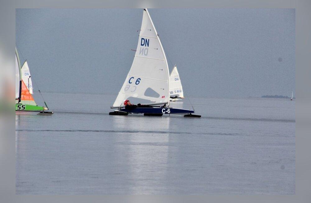 DN klassi jääpurjetamise Euroopa MV Haapsalus 04.03.2014