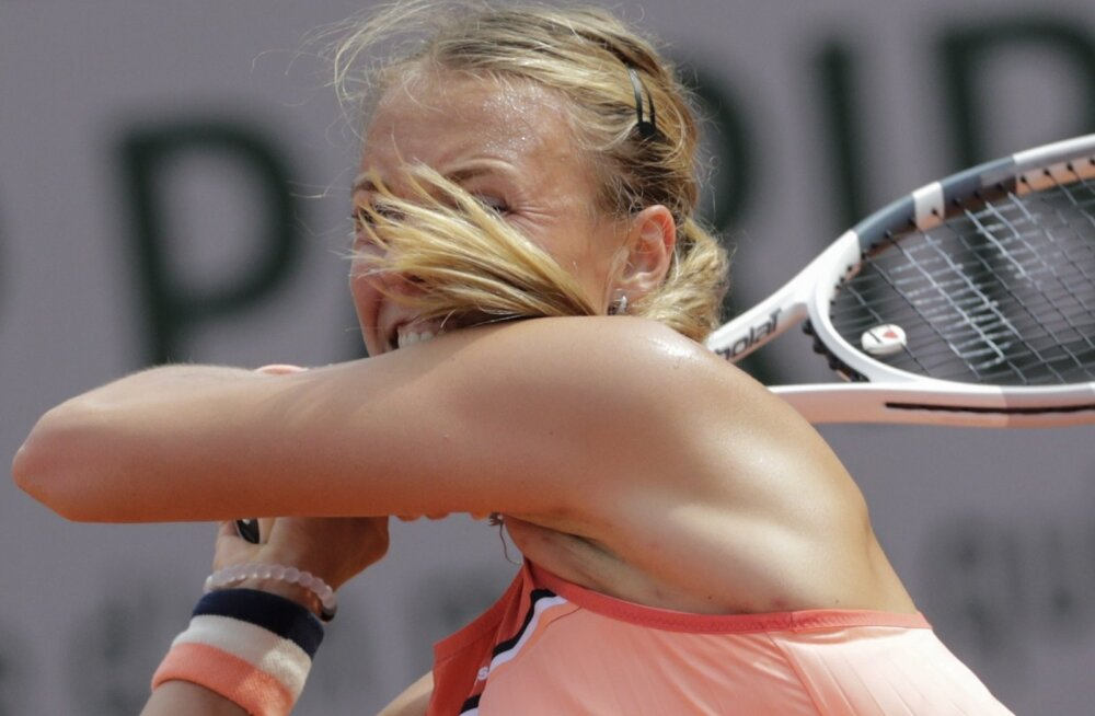 Petra Kvitová vastu Anett Kontaveit võitles.