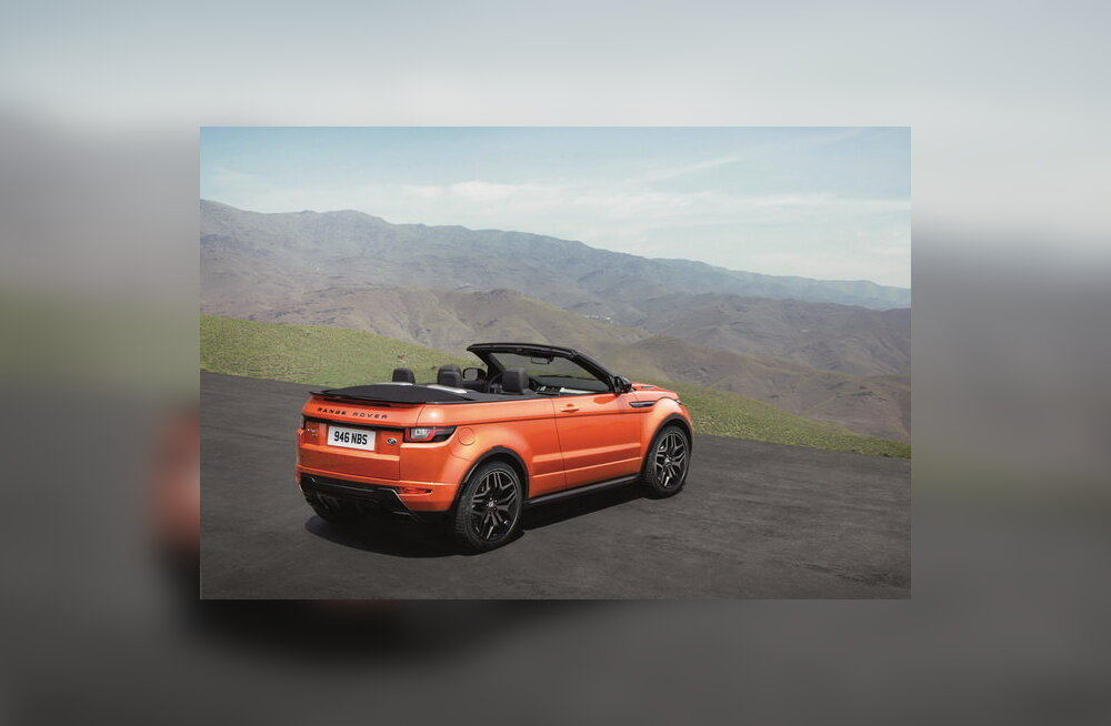 Katus avaneb 18 sekundiga: Land Rover esitles kabrioletti Range Rover Evoque Convertible