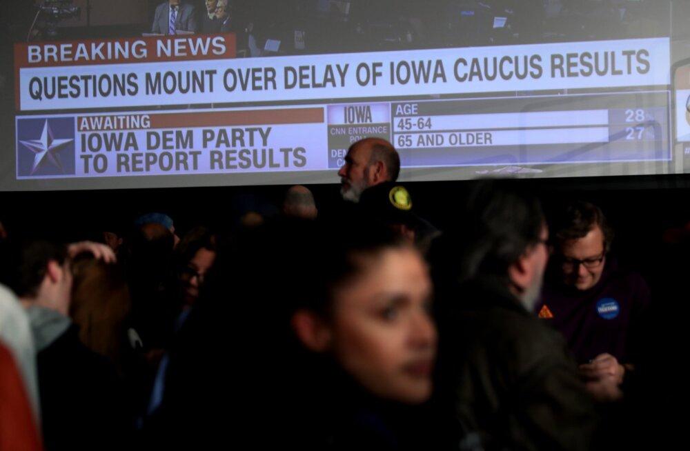 """USA demokraatide eelvalimistel Iowas valitseb suur segadus: tulemus viibib """"raporteerimisprobleemi"""" tõttu"""