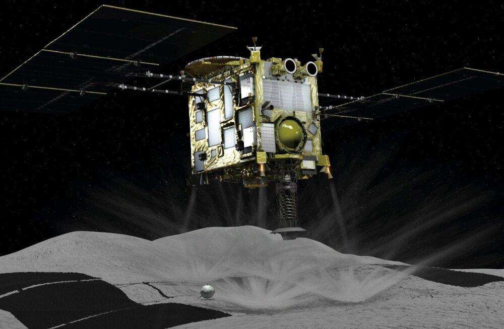 VIDEO   Jaapani kosmosesond maandus proovide võtmiseks asteroidil