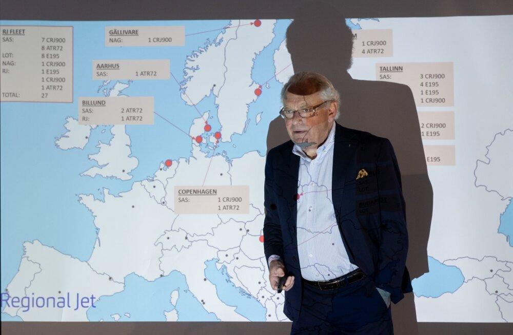 Aasta tagasi presenteeris Jan Palmér uhkusega allhankelendude laia haaret, mille Regional Jet oli paari aastaga saavutanud. Praegu on sellest alles riismed.