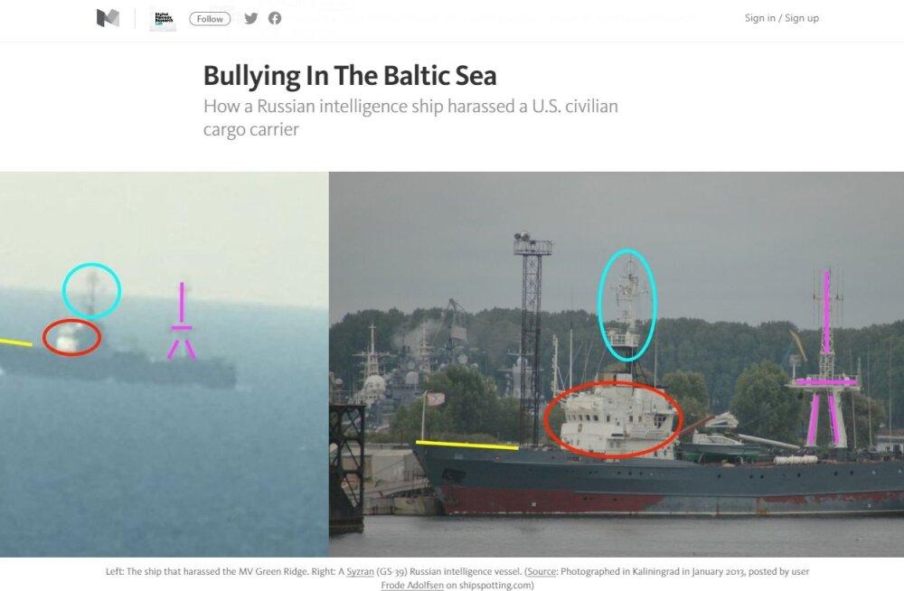 Vene armee hirmutas Läänemerel USA kaubalaeva kummaliste sõnumite ja ülelendudega