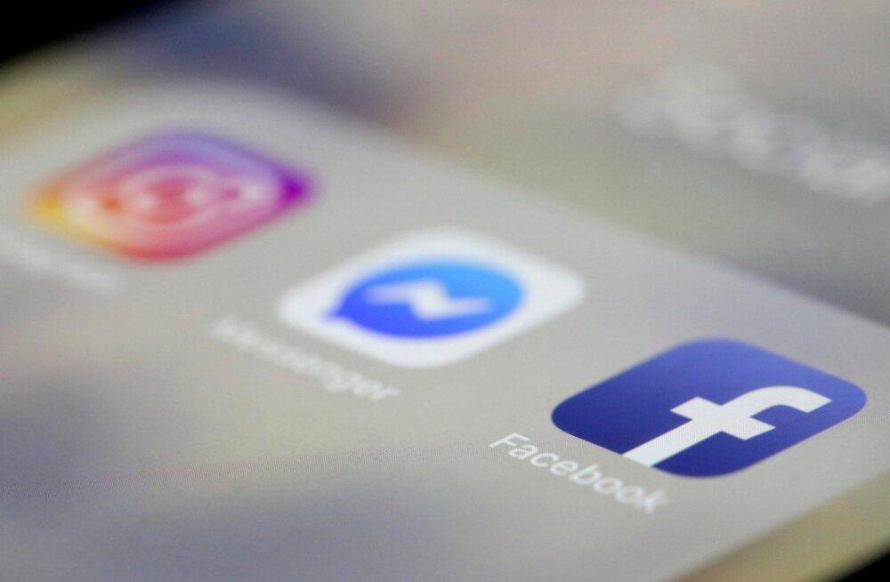 """""""Katkestus"""" puudutas nii Facebooki, Instagrami kui ka Messengeri kasutajaid."""