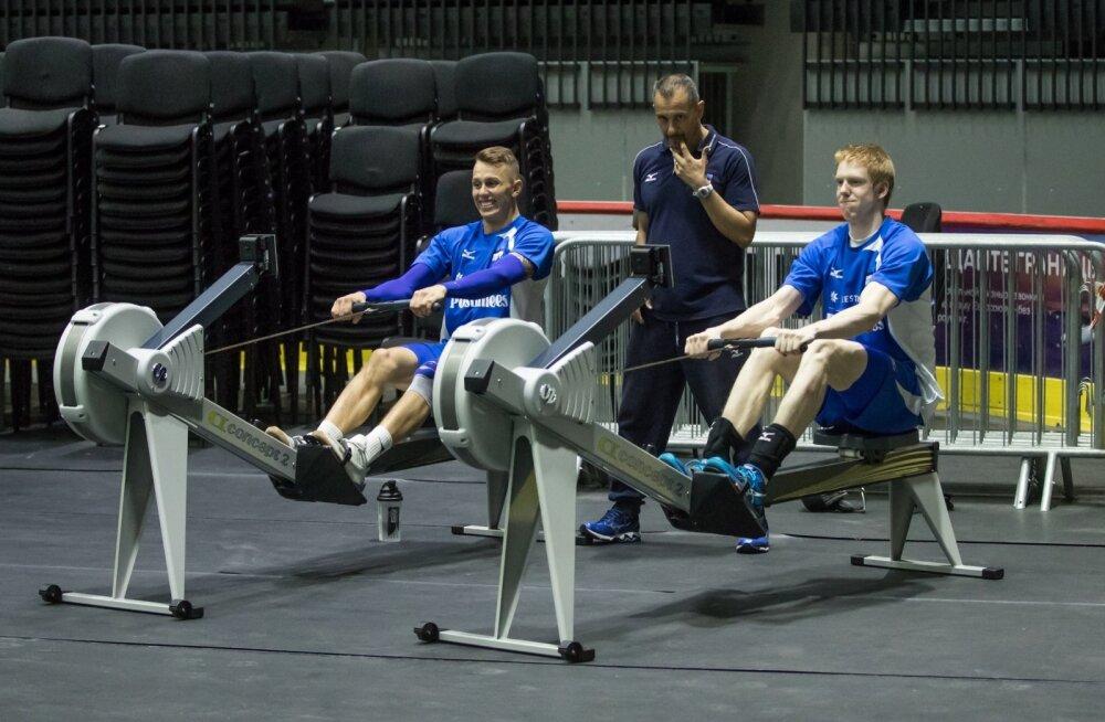 Kas veidi vigastustega kimpus olevad Karli Allik (vasakul) ja Mart Naaber (paremal) mahuvad MM-valikmängudeks tiimi?