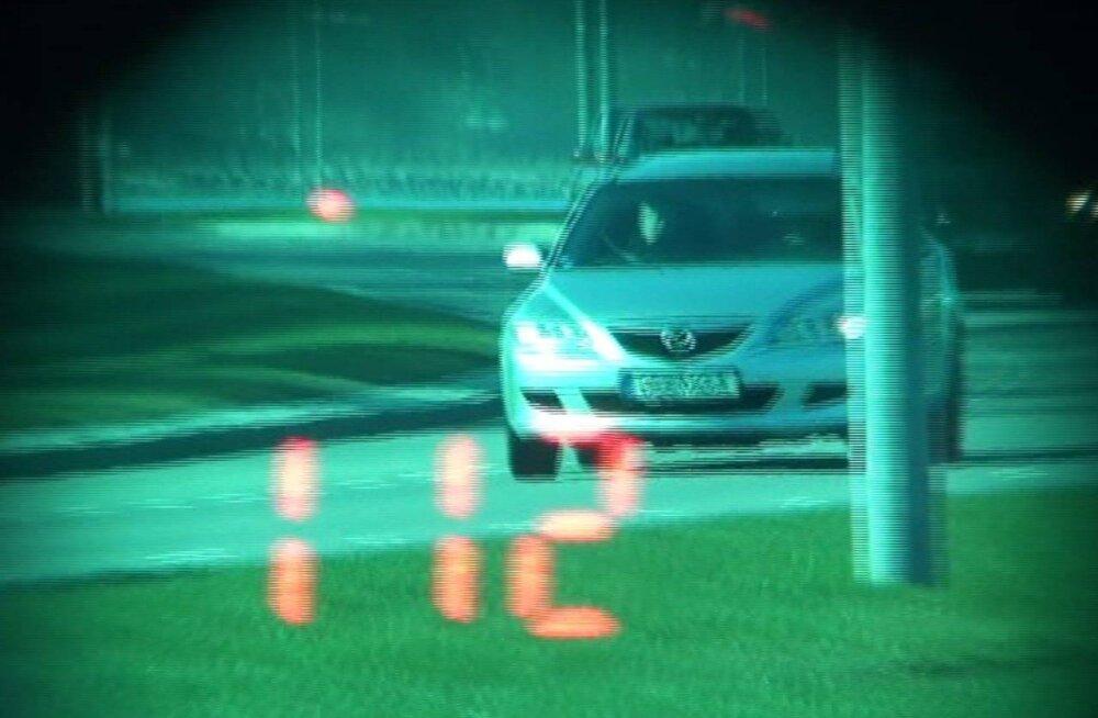 Пьяный водитель мчался по Пирита теэ со скоростью 112 километров в час