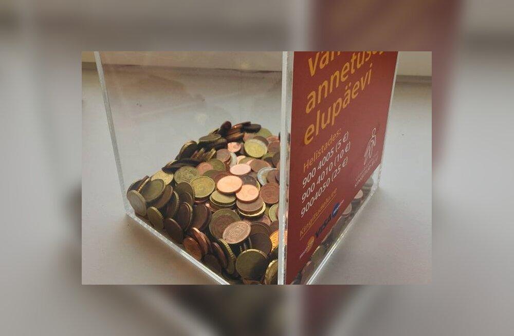 Vähiravifond jagab mõtlemapanevat pilti: superministeeriumi kohvikus olnud annetuskast tuli tagasi peaaegu tühjana!