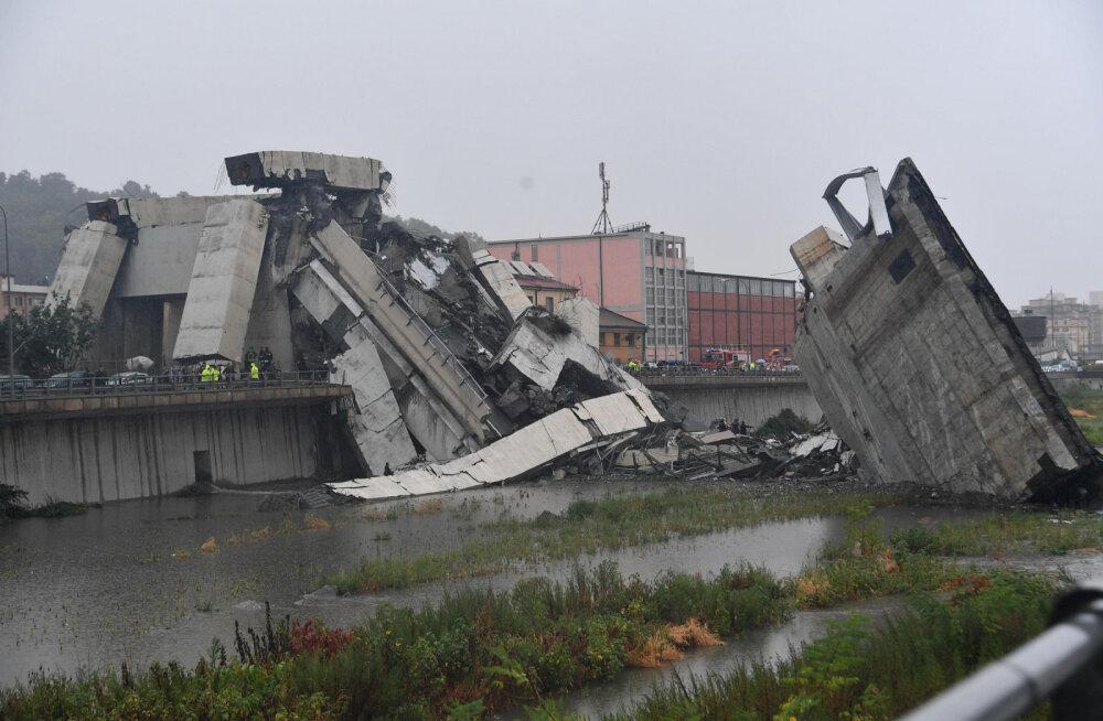 VIDEOD JA FOTOD | Itaalias Genovas varises kokku maanteesild, hukkus vähemalt 35 inimest