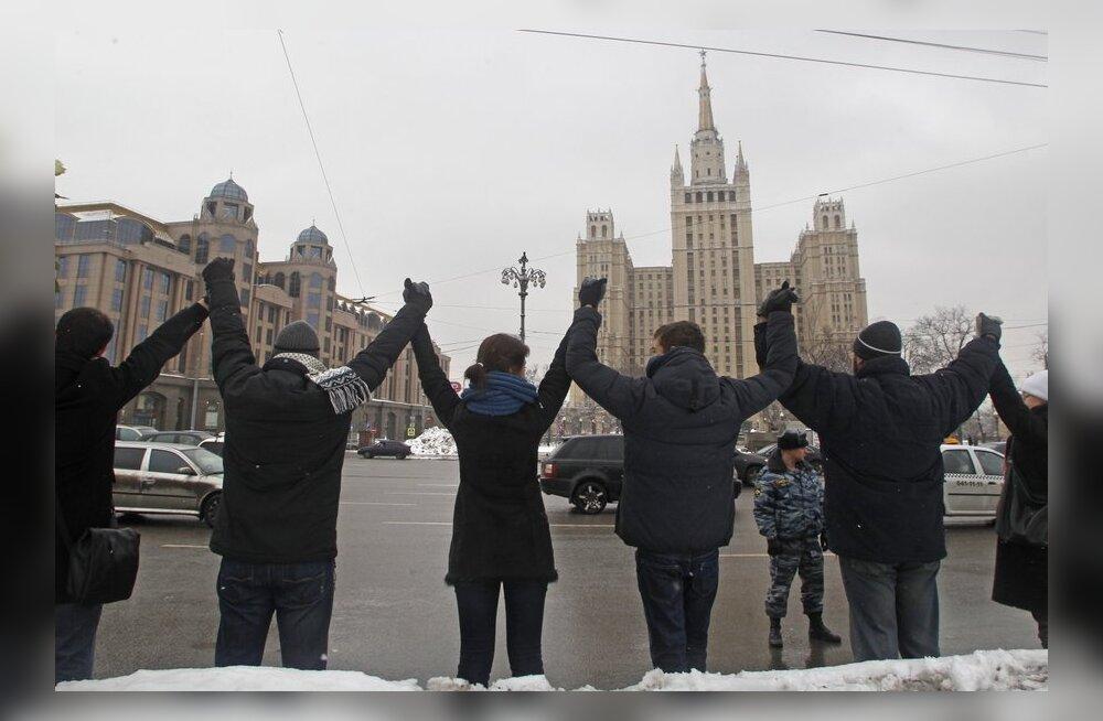 """В Москве устроили """"проводы политической зимы"""""""