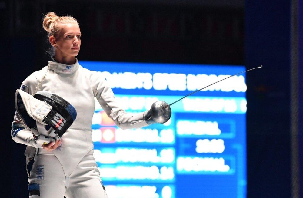 Katrina Lehis murdis end MM-il kaheksa sekka, kuid medal jäi seekord unistuseks.