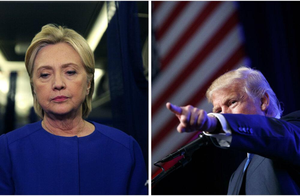 Küsitlus: Trump rebis nädal enne valimispäeva Clintonist ette