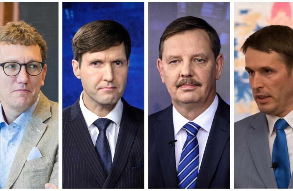 Tallinna linnapeakandidaatidest osalevad kõigis viies debatis Kristen Michal, Martin Helme, Taavi Aas ja Rainer Vakra