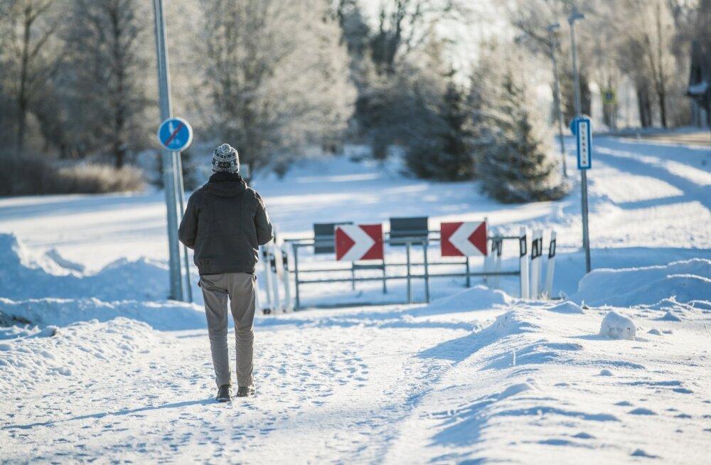 Nüüd ollakse Palupera kergliiklustee lumelükkamisega hoolsamad.