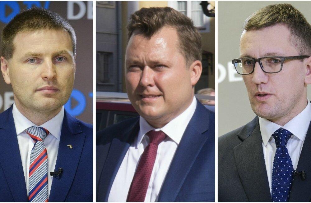 Hanno Pevkur, Kristjan Kõljalg ja Kristen Michal