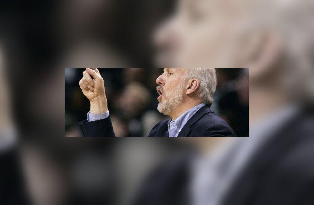Spursi peatreener Gregg Popovich