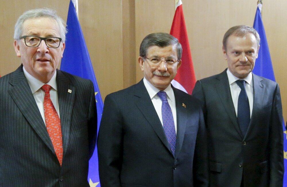 Jean-Claude Juncker, Ahmet Davutoglu, Donald Tusk