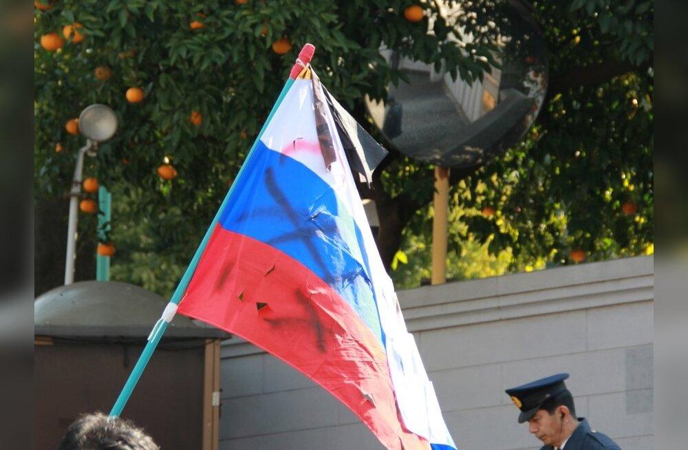Vene saatkonda Tokyos saadeti kiri püssikuuliga