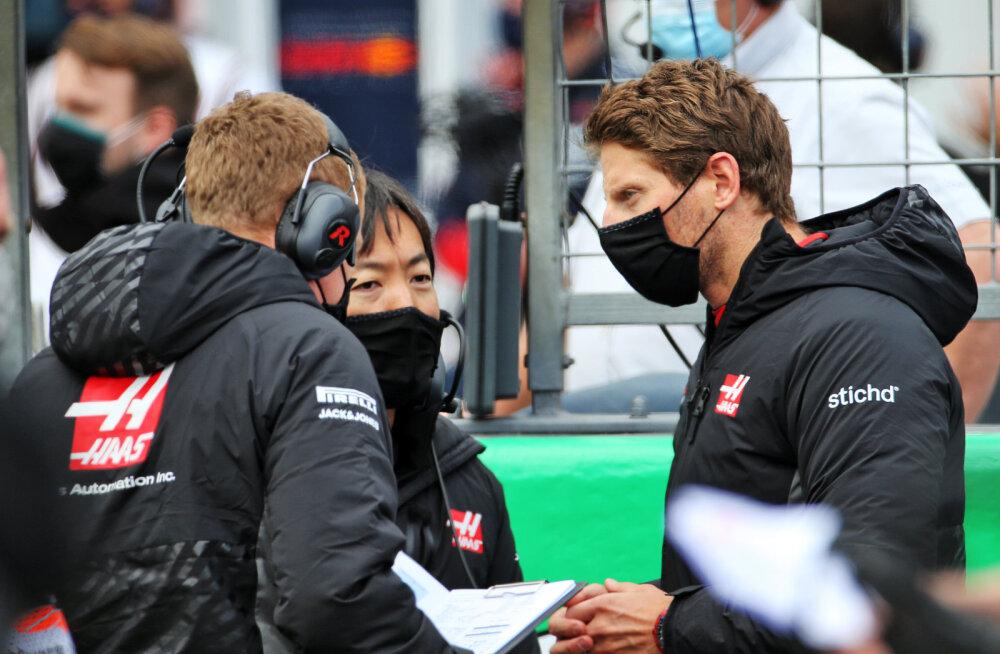 Romain Grosjean (paremal)