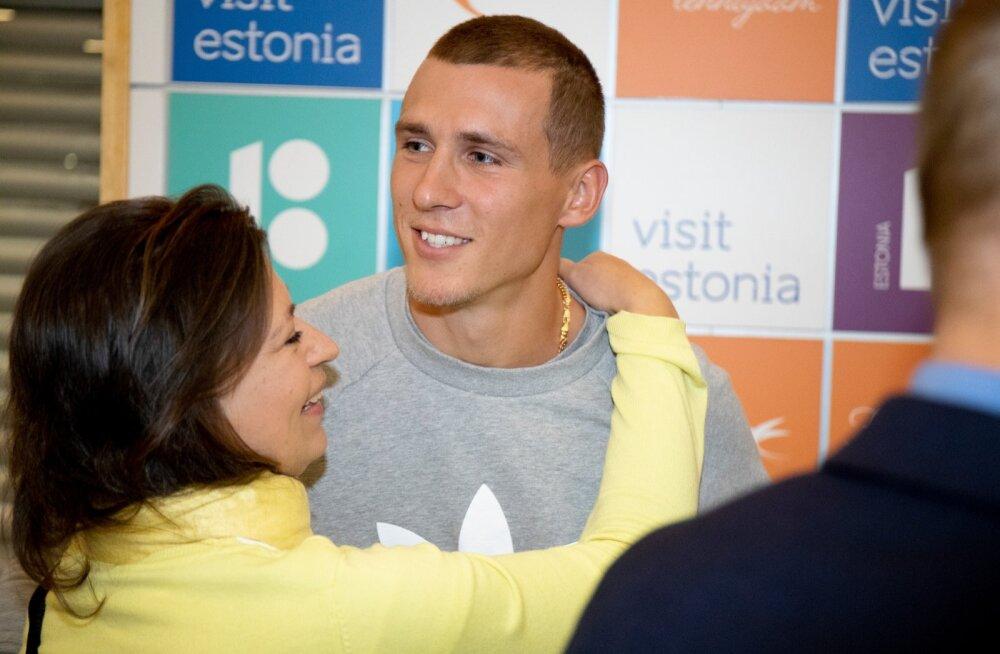 Maicel Uibo ja Shaunae Miller-Uibo saabusid Tallinna