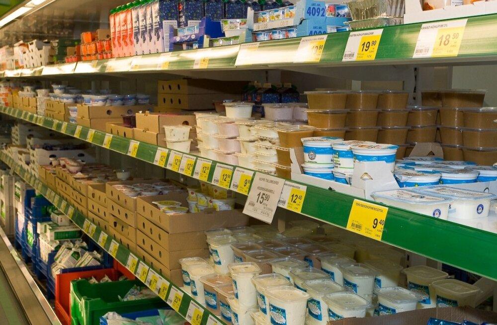 MKM: tootjahindu veab allapoole toiduainete tootmine, piima hind on poes langenud aastaga 14 protsenti
