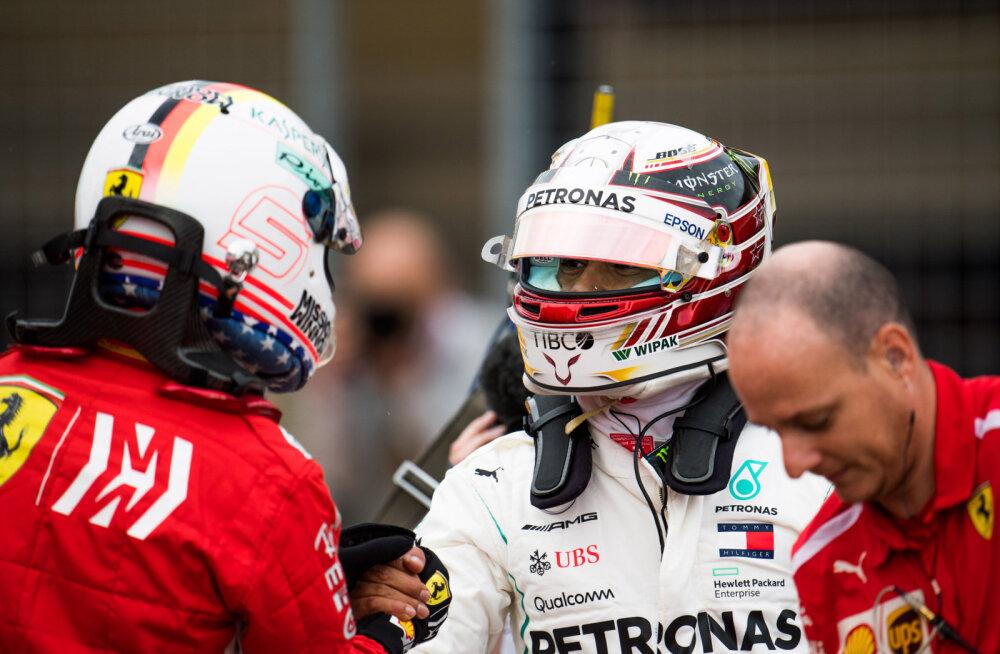VIDEO | Hamilton tõmbas taas Vettelile koti pähe ning võitis USA GP kvalifikatsiooni, Verstappeni autot tabas ootamatu rike