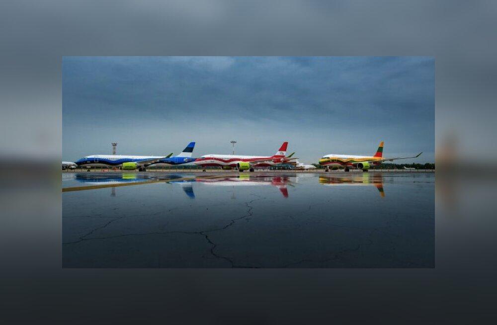 ФОТО | Чей самолет краше? airBaltic раскрасила свои самолеты в цвета стран Балтии