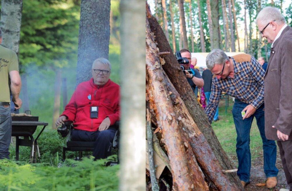 FOTOD   Hundisilma lõkkeõhtud läbi aegade: Vaata, kuidas Savisaare koduõuel peetud uhketest jaanipidudest said tagasihoidlikud koosviibimised!