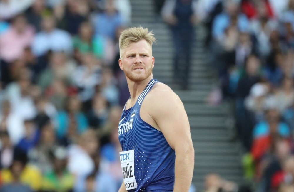Tanel Laanmäe ja treener Heiko Väät MM-il