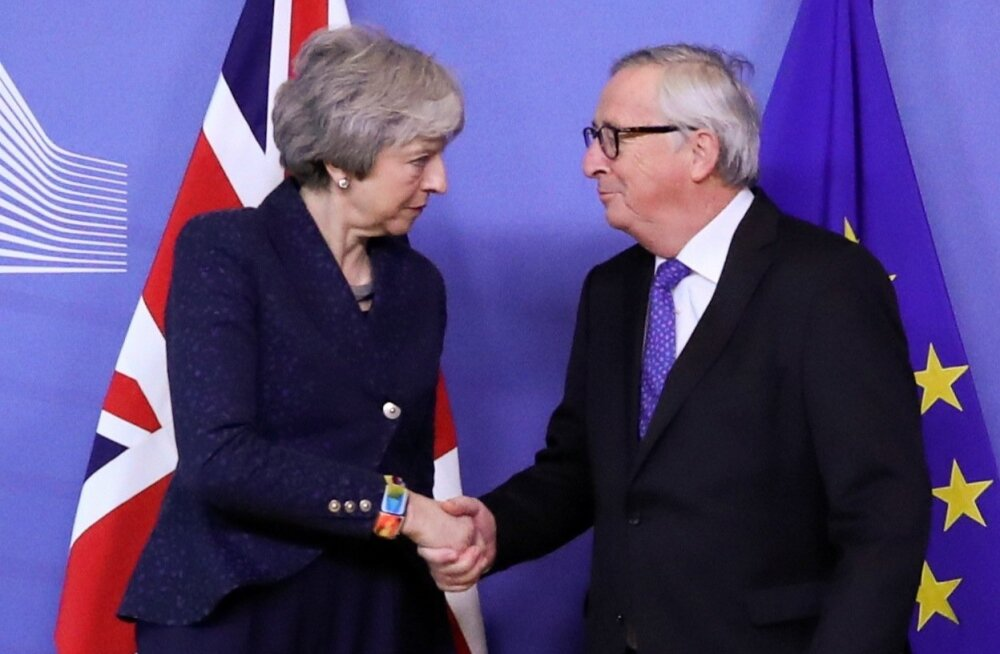 May ja Junckeri sõnul olid nende Brexiti-läbirääkimised jõulised aga konstruktiivsed