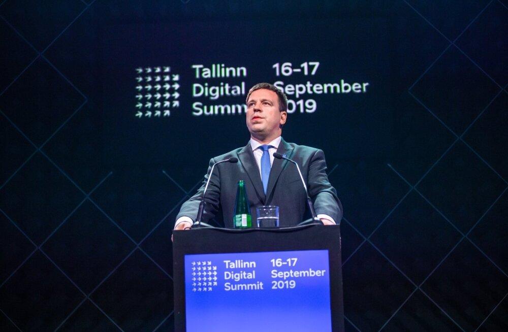 Peaminister Jüri Ratas Tallinna digitippkohtumisel