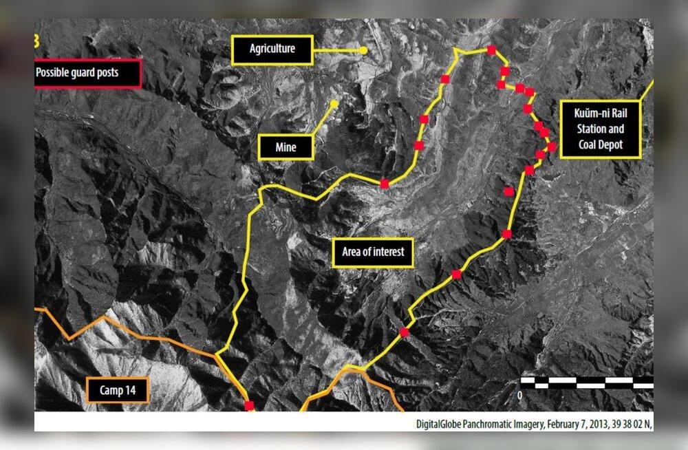 Uued satelliidifotod näitavad Põhja-Korea poliitvangilaagrite ulatust