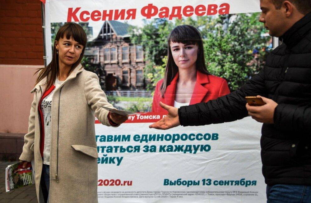 Navalnõi staapide juhid saavutasid võidu valimistel Tomskis ja Novosibirskis