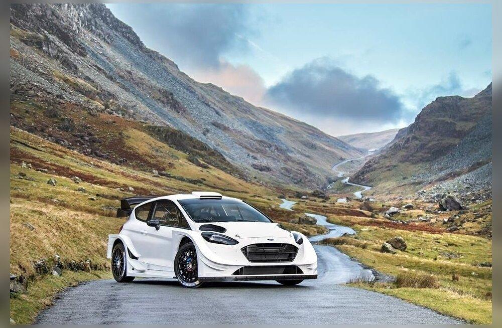 M-Spordi looming Ford Fiesta RS WRC, veel kirjadeta, kuid sõiduvalmis