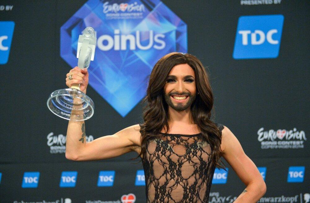 Eurovisioon 2014 võitja laval ja pressikas