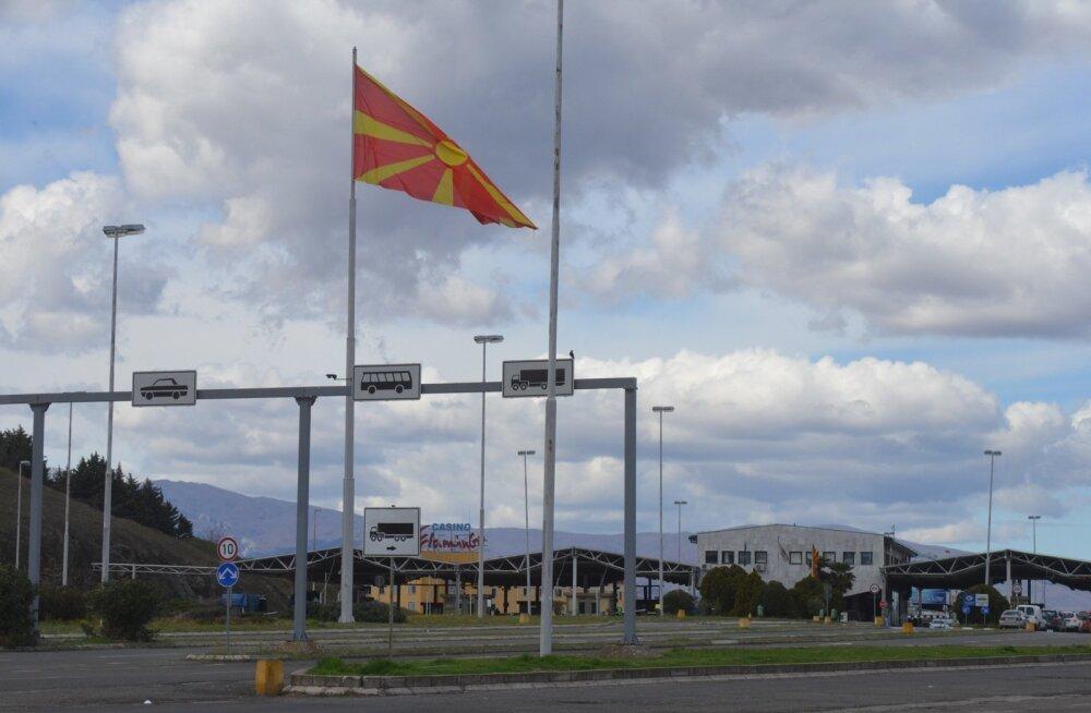 Pagulased Kreeka-Makedoonia piiril märtsis 2016