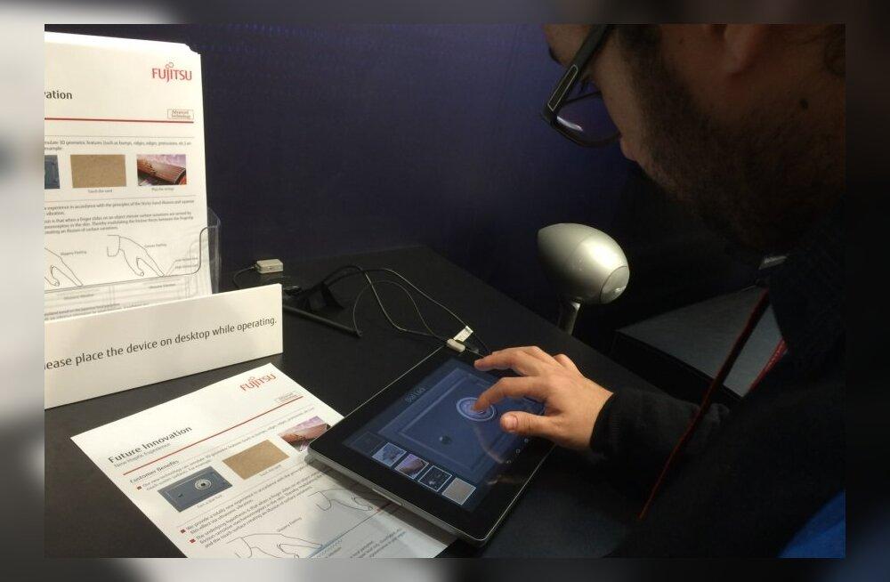 Fujitsu näitas taktiilset puuteekraani, mida katsudes tunneb käega võnkeid ja konarusi