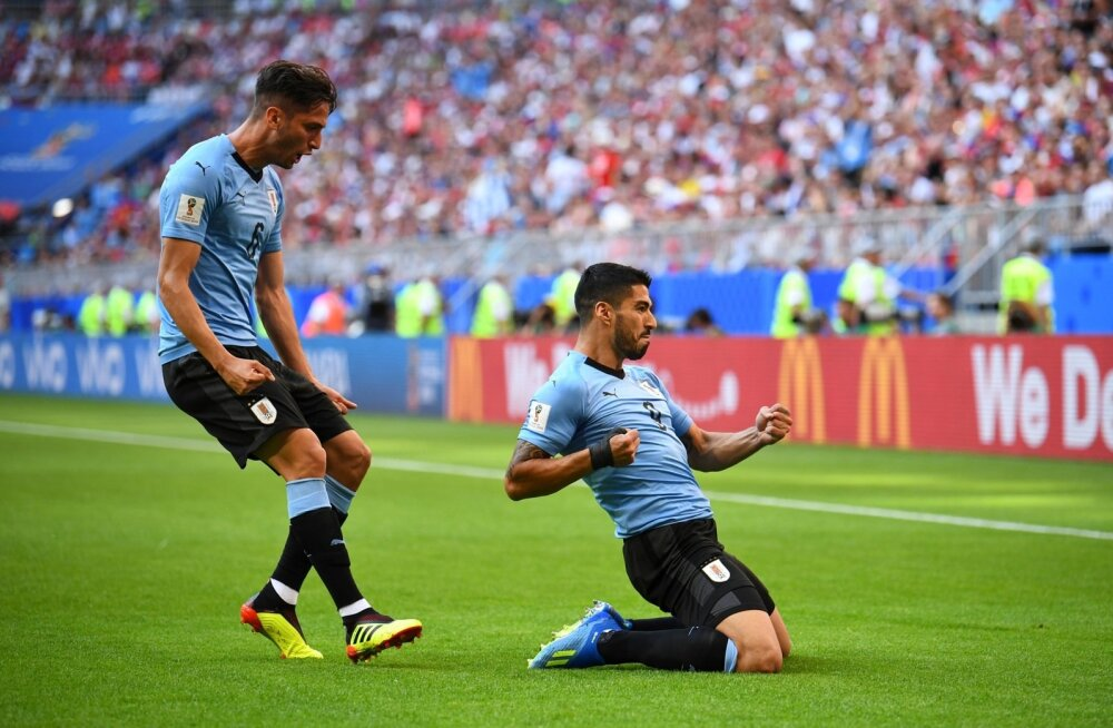 Luis Suárez ja Uruguay näitasid Venemaale halastamatult koha kätte.