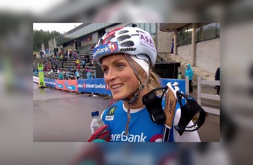 Therese Johaug tagasi võistlusrajal