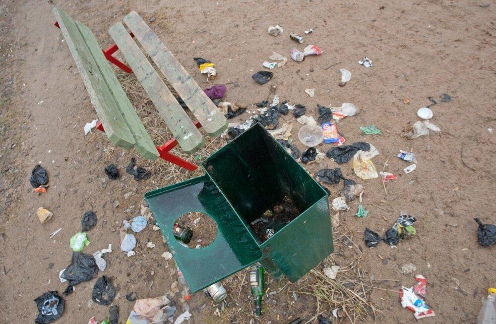 Enamik randades olevast prügist sisaldab plasti.