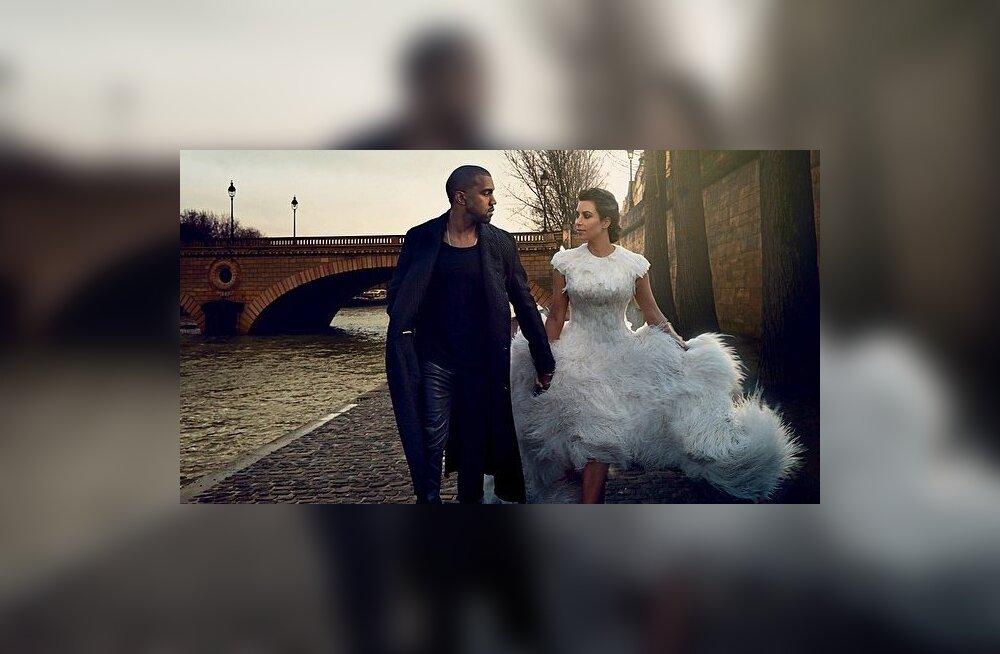 Kanye West ja Kim Kardashian poseerivad Vogue'ile